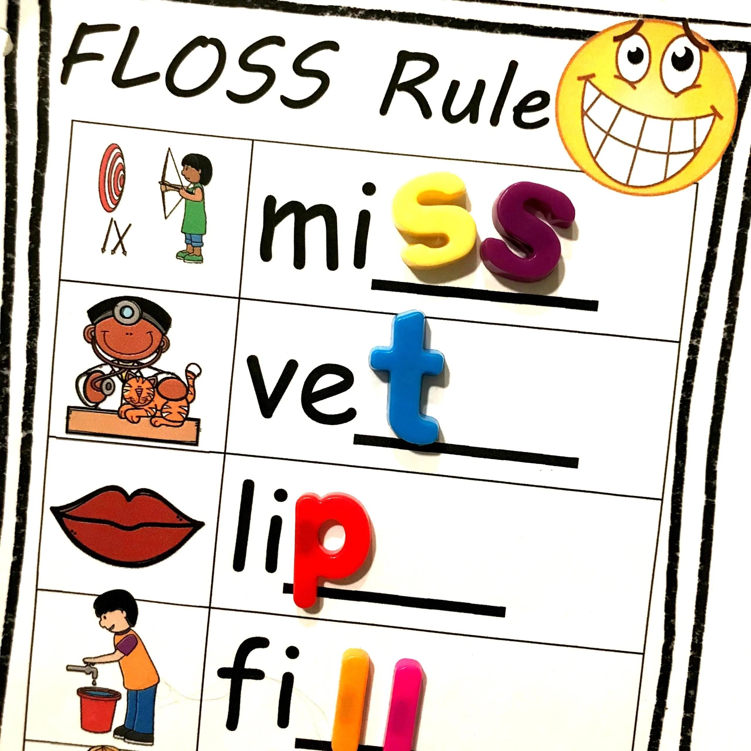 Free Floss Rule Worksheets
