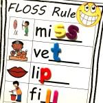 Free Floss Rule Worksheet