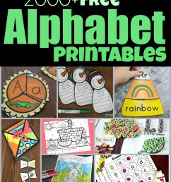 FREE Alphabet Printables [ 1741 x 1024 Pixel ]