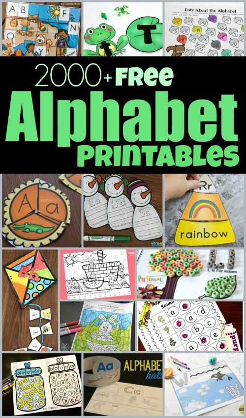 small resolution of FREE Alphabet Printables