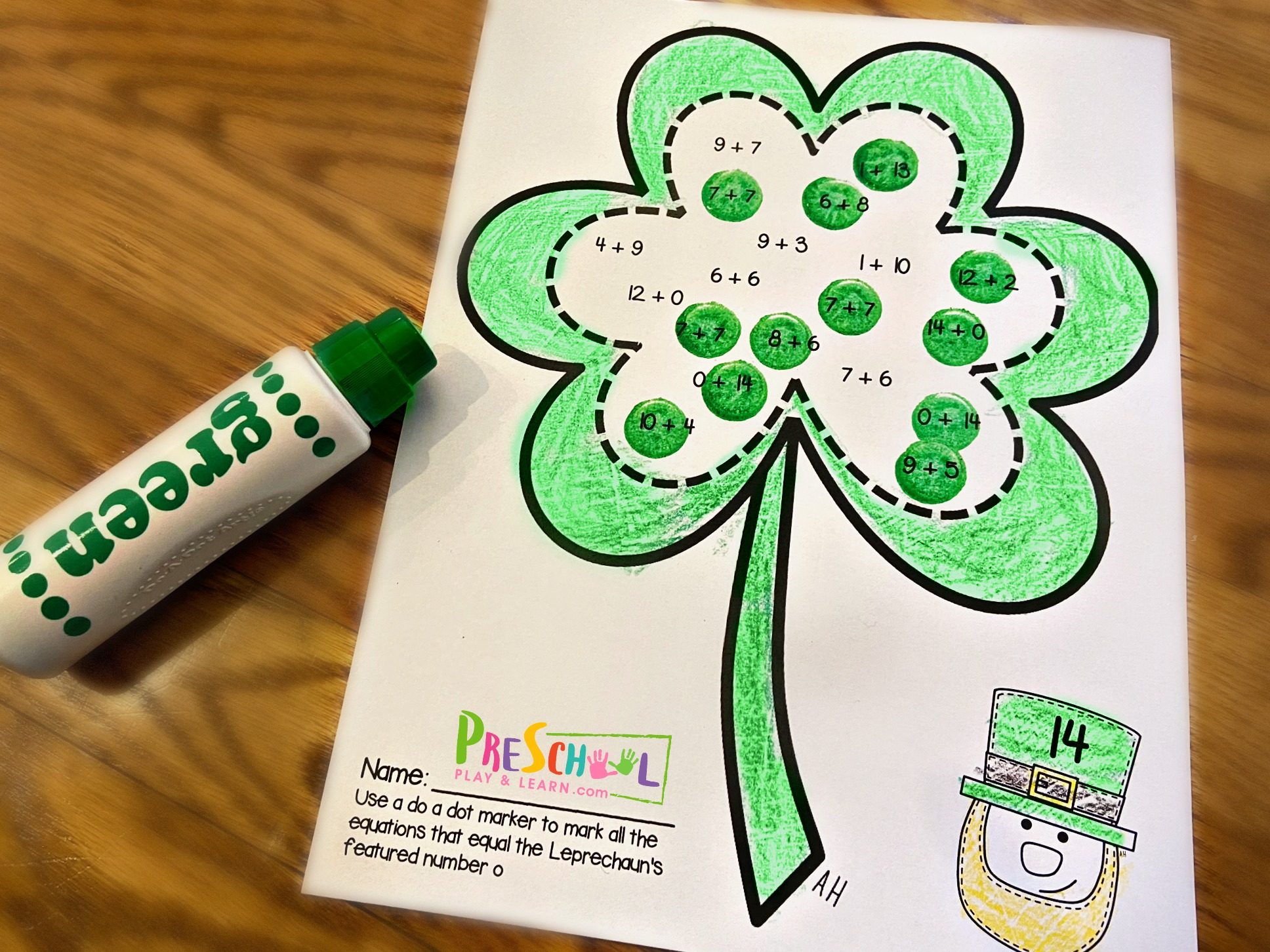 hight resolution of FREE St Patricks Day Addition Math Worksheets