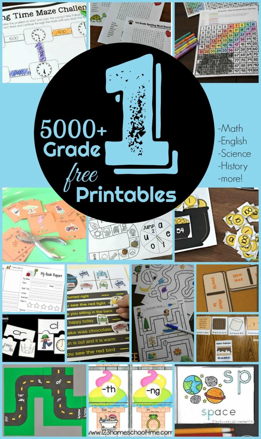 medium resolution of FREE 1st Grade Worksheets