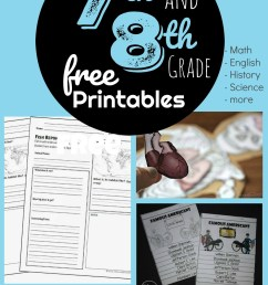 FREE 7th \u0026 8th Grade Worksheets [ 2000 x 1006 Pixel ]
