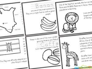 FREE Kenya For Kids Printable Book Mini Reader