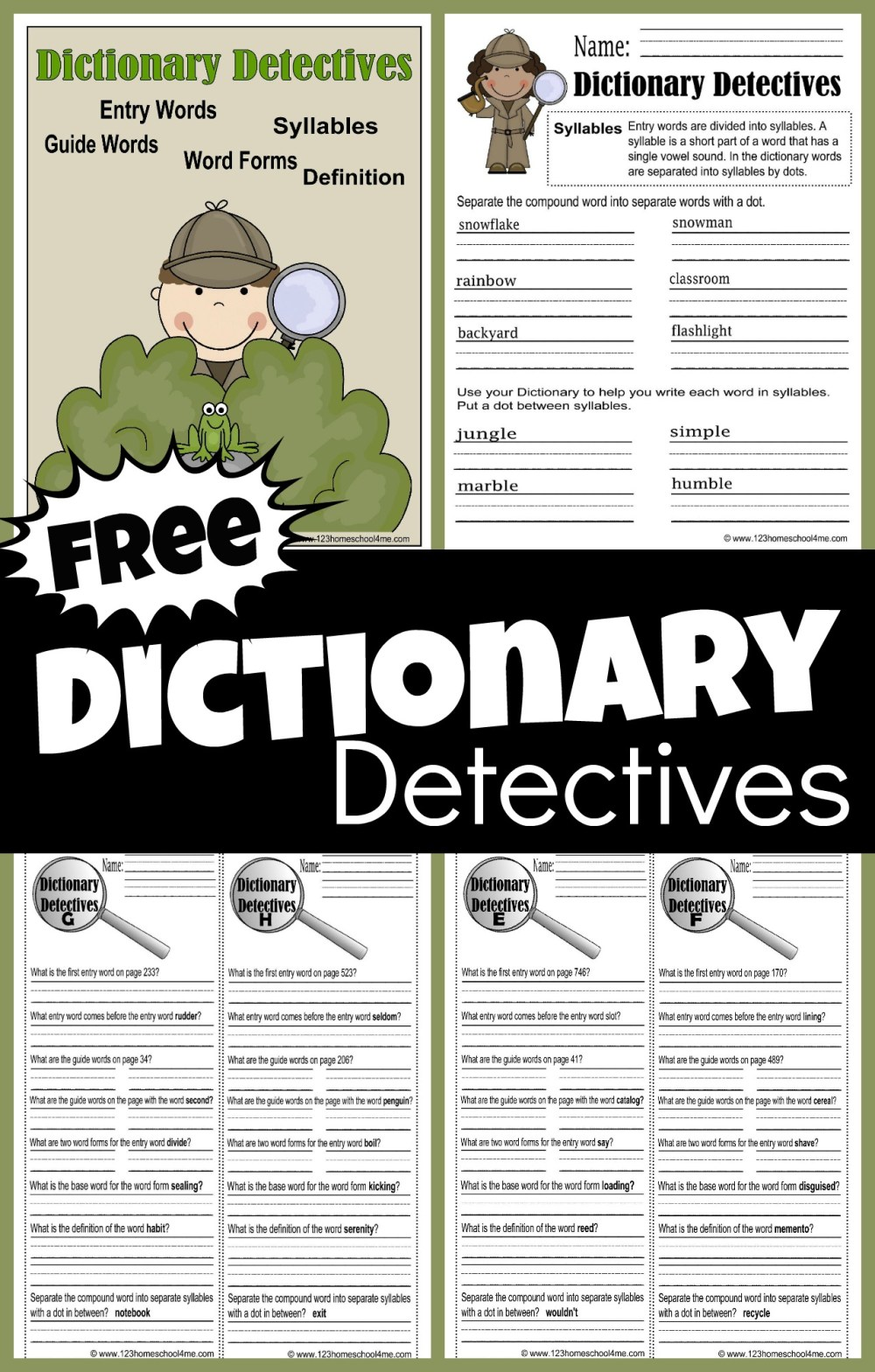 medium resolution of FREE Dictionary Detective Worksheets for Kids