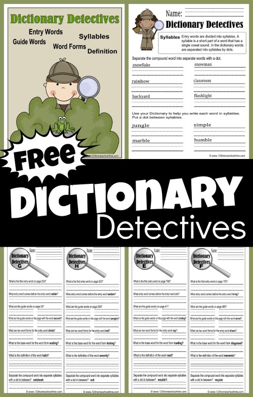 small resolution of FREE Dictionary Detective Worksheets for Kids