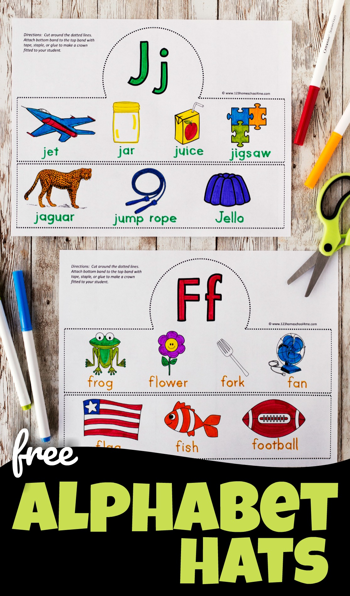 Free Alphabet Hats