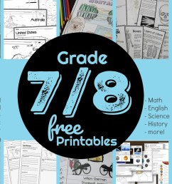 FREE 7th \u0026 8th Grade Worksheets [ 1200 x 1012 Pixel ]