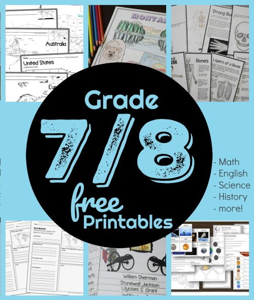 small resolution of FREE 7th \u0026 8th Grade Worksheets