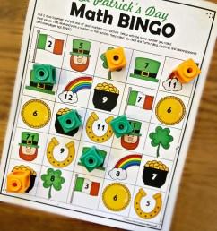 FREE St Patricks Day Math Bingo Printables [ 1365 x 1024 Pixel ]
