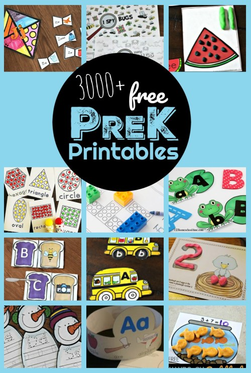 small resolution of 3000+ FREE Pre K Worksheets