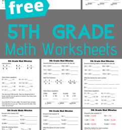 5th Grade Math Worksheets [ 1200 x 700 Pixel ]