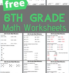 FREE 6th Grade Math Worksheets [ 1200 x 700 Pixel ]