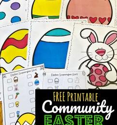 FREE Printable Neighborhood Easter Scavenger Hunt [ 1617 x 1024 Pixel ]