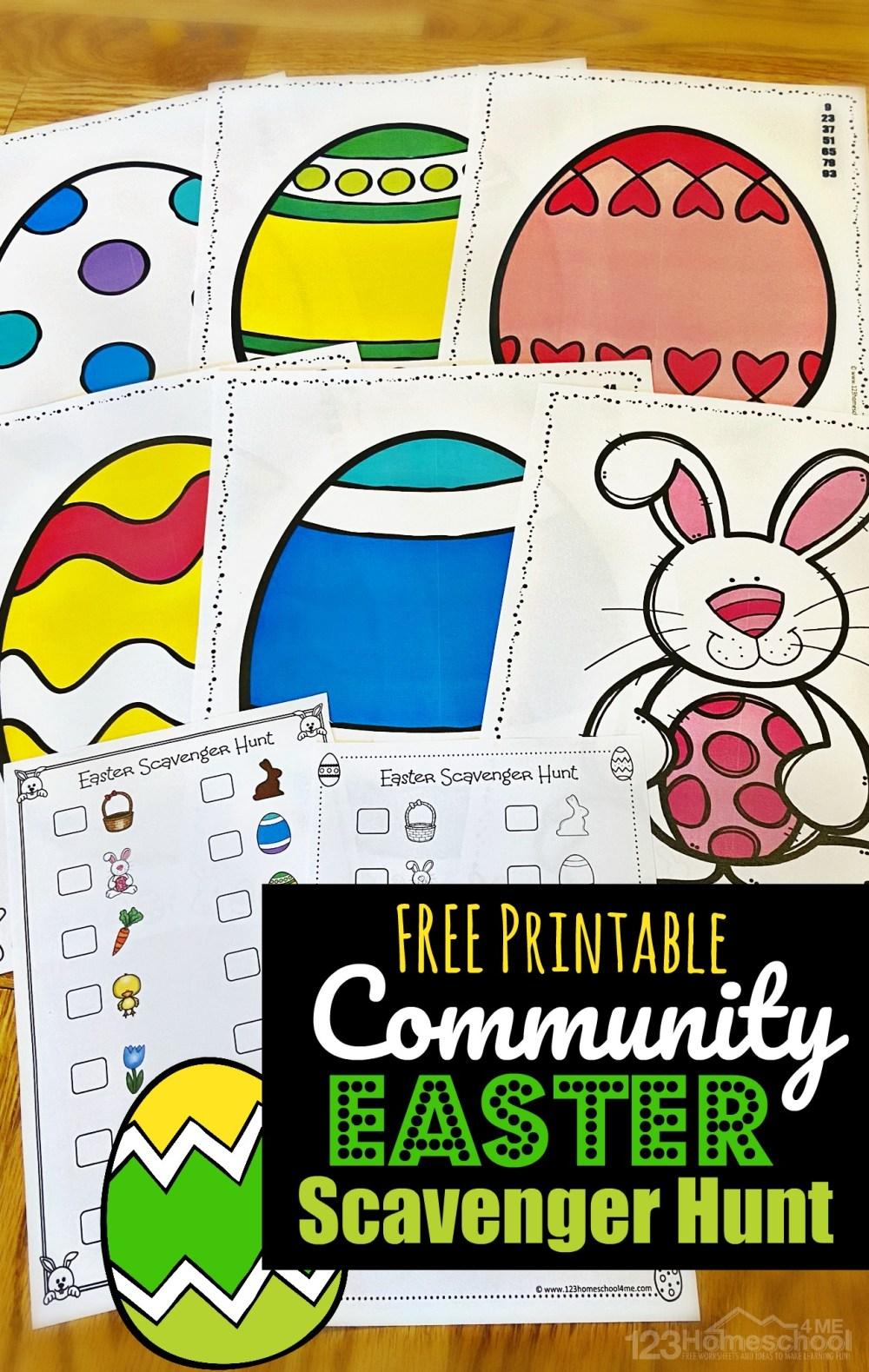 medium resolution of FREE Printable Neighborhood Easter Scavenger Hunt