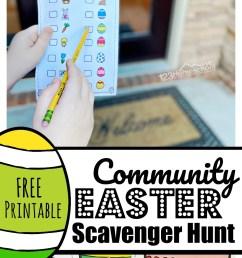 FREE Printable Neighborhood Easter Scavenger Hunt [ 2000 x 980 Pixel ]