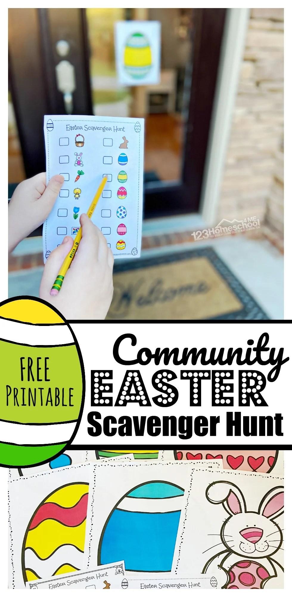 hight resolution of FREE Printable Neighborhood Easter Scavenger Hunt