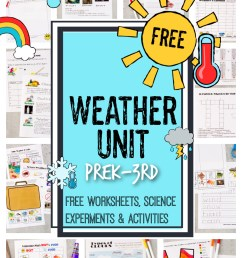 FREE Weather Unit - Worksheets [ 1500 x 1000 Pixel ]