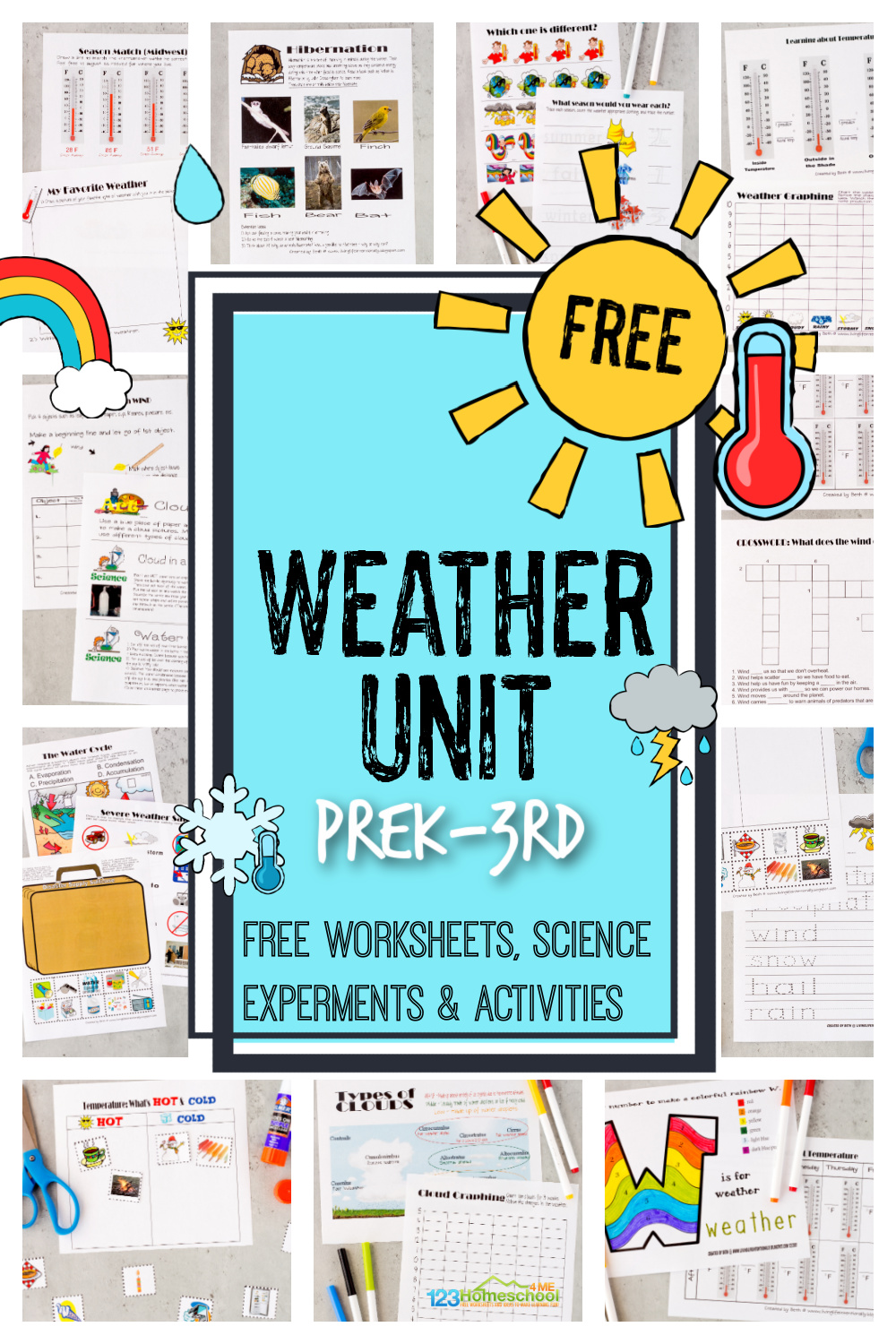 medium resolution of FREE Weather Unit - Worksheets