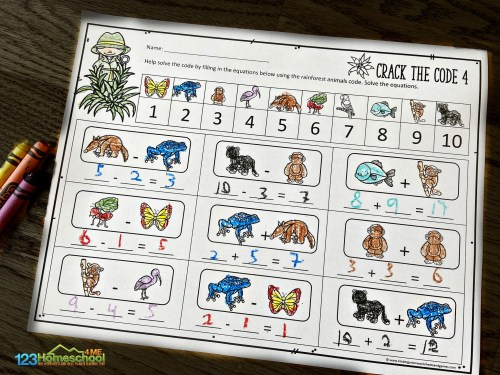 small resolution of Math Crack the Code Worksheets