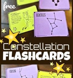 FREE Printable Constellation Flashcards [ 1664 x 1024 Pixel ]