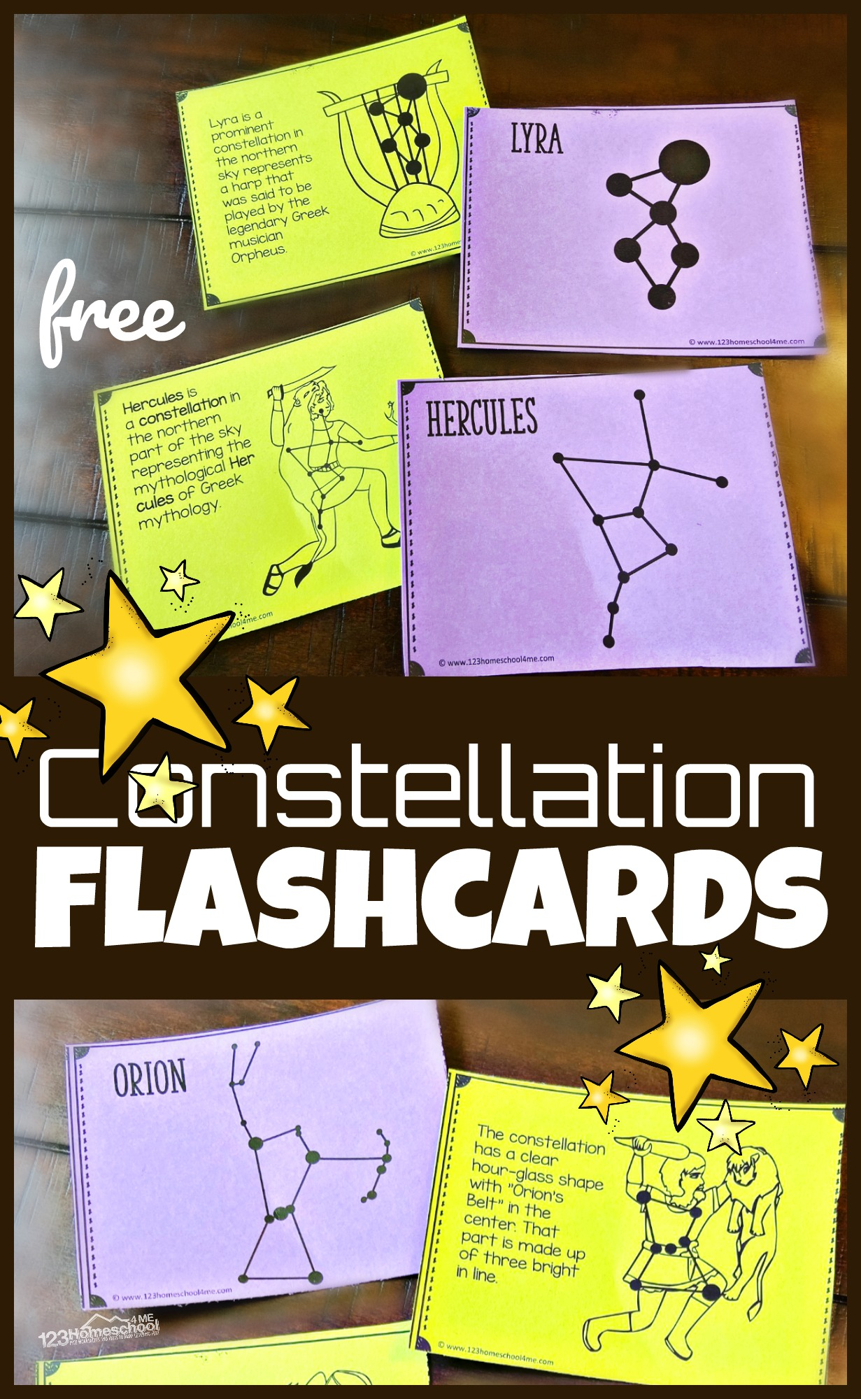 hight resolution of FREE Printable Constellation Flashcards