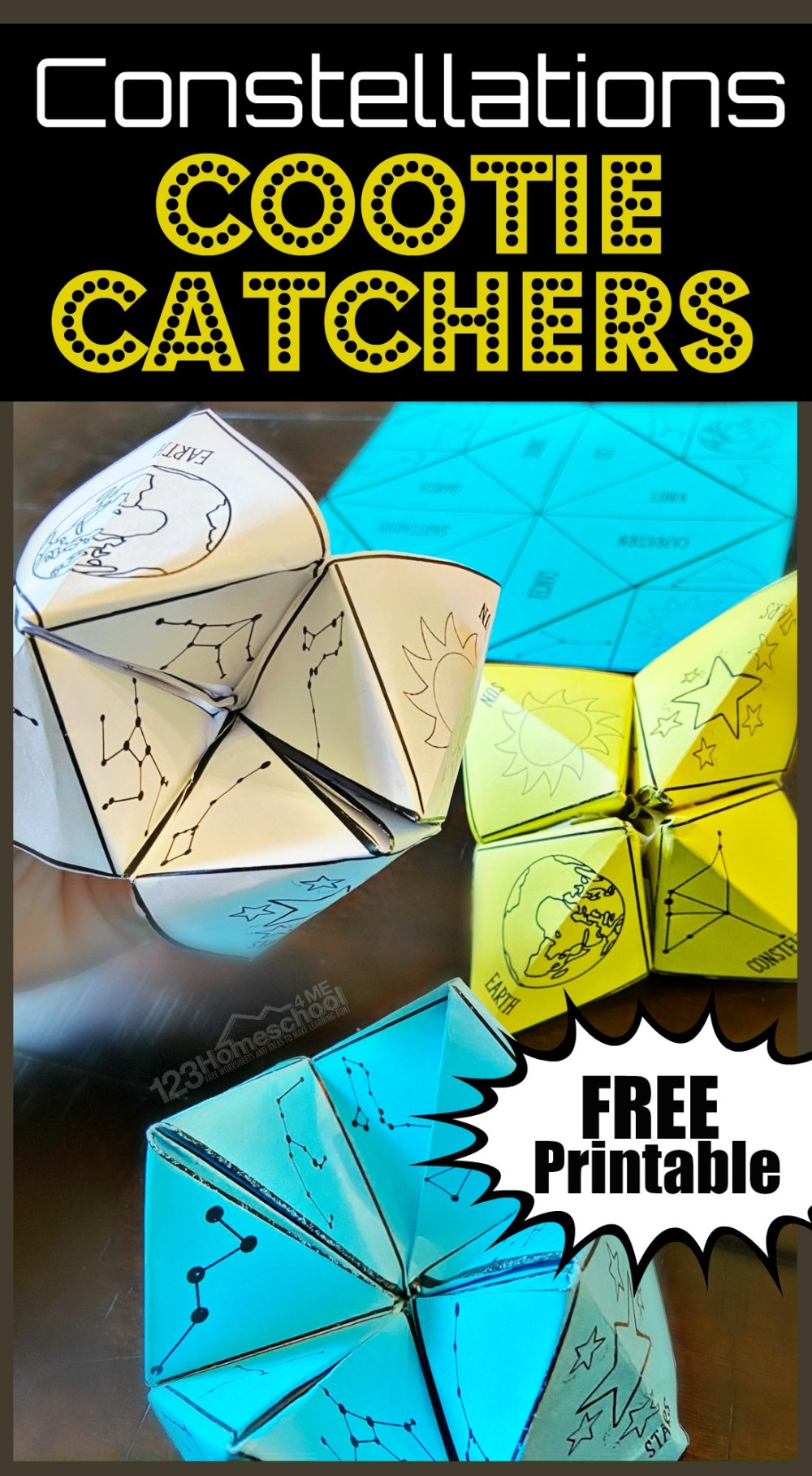 medium resolution of FREE Constellations Cootie Catcher Printable