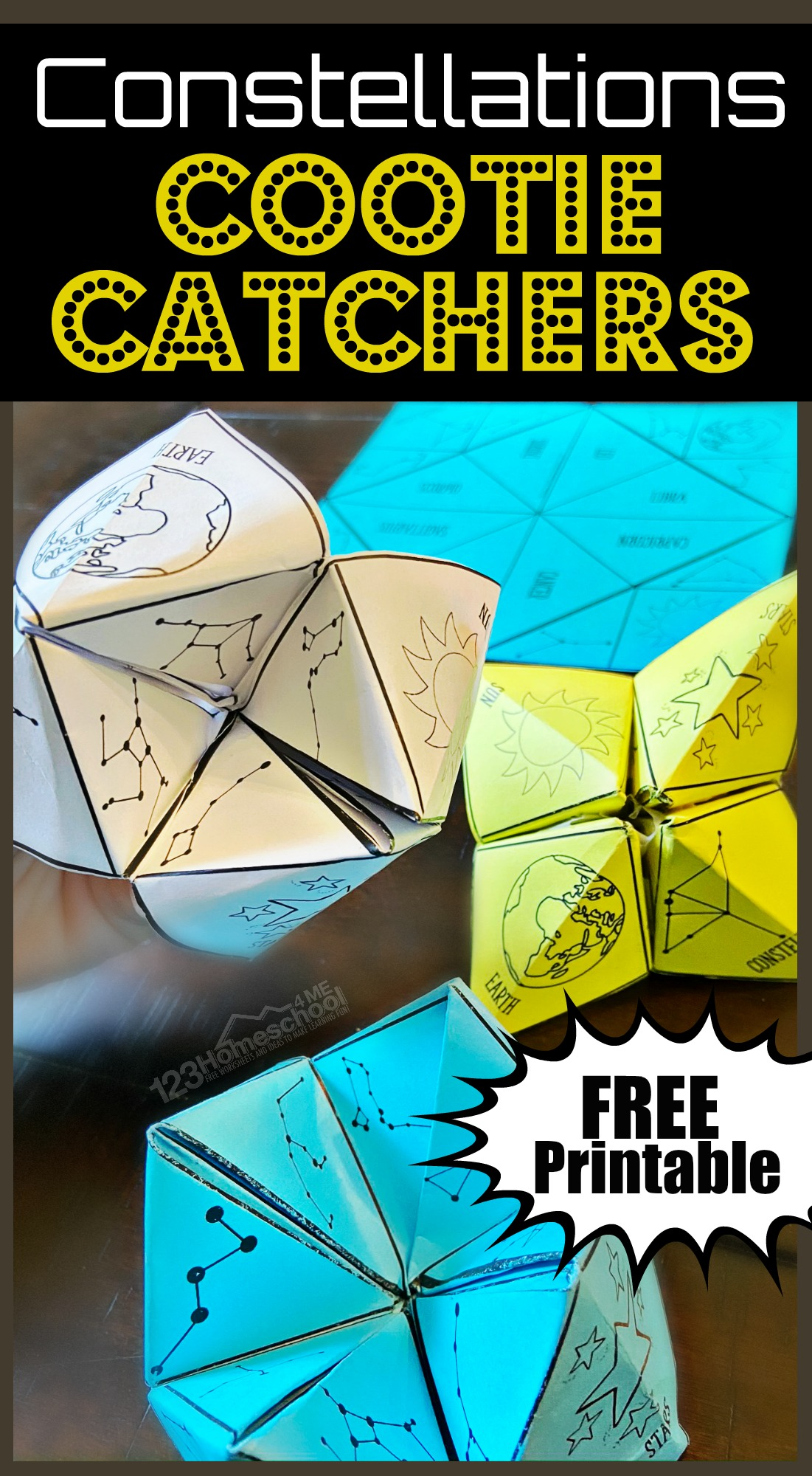hight resolution of FREE Constellations Cootie Catcher Printable