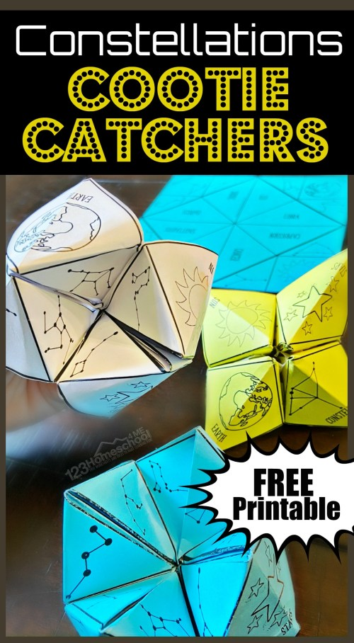 small resolution of FREE Constellations Cootie Catcher Printable