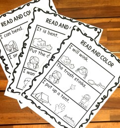 FREE Read \u0026 Color Ending Blends Worksheets [ 1024 x 1024 Pixel ]