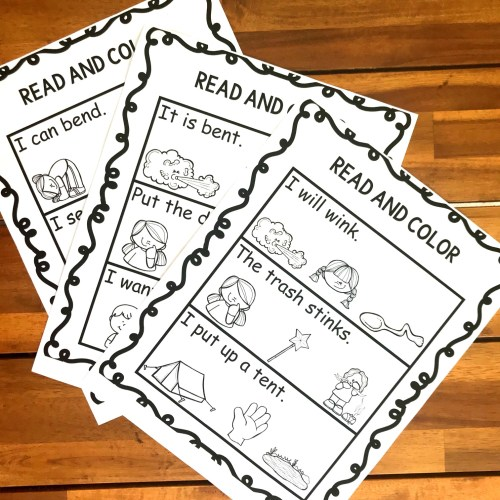 small resolution of FREE Read \u0026 Color Ending Blends Worksheets