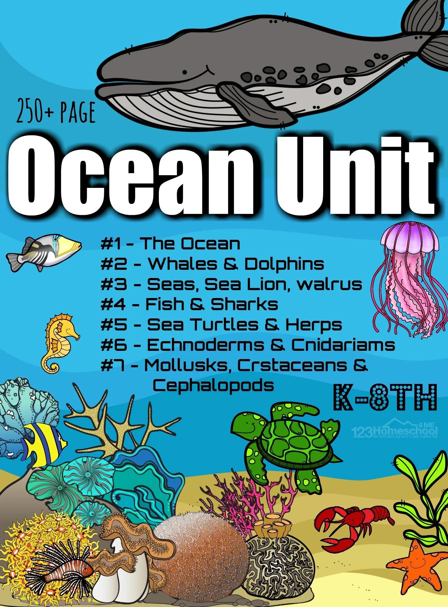 Free Ocean Worksheets For Pre K Kindergarten Grade 1 Amp 2