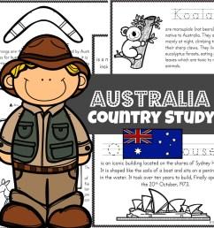 FREE Australia for Kids Printable Book [ 1024 x 1024 Pixel ]