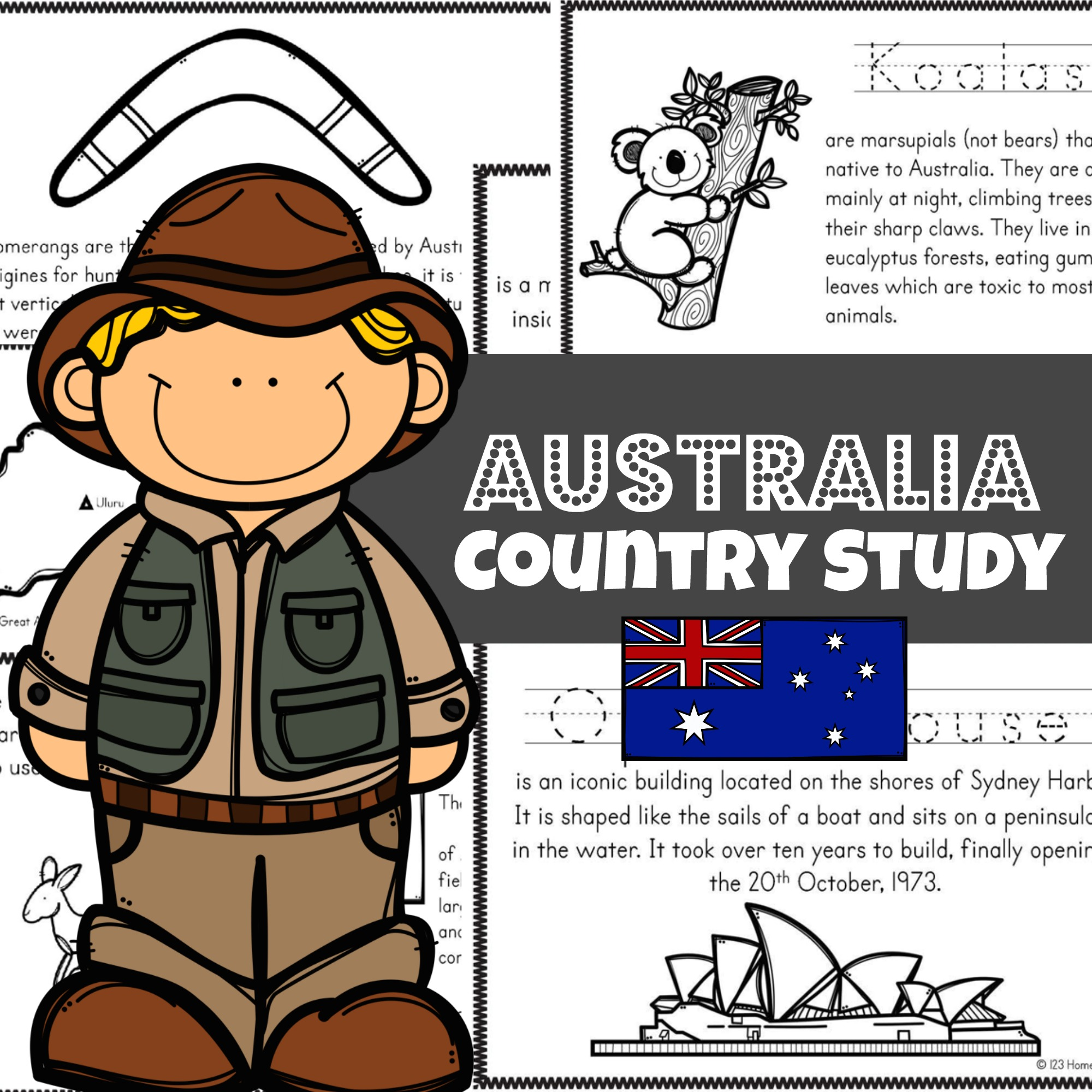 hight resolution of FREE Australia for Kids Printable Book