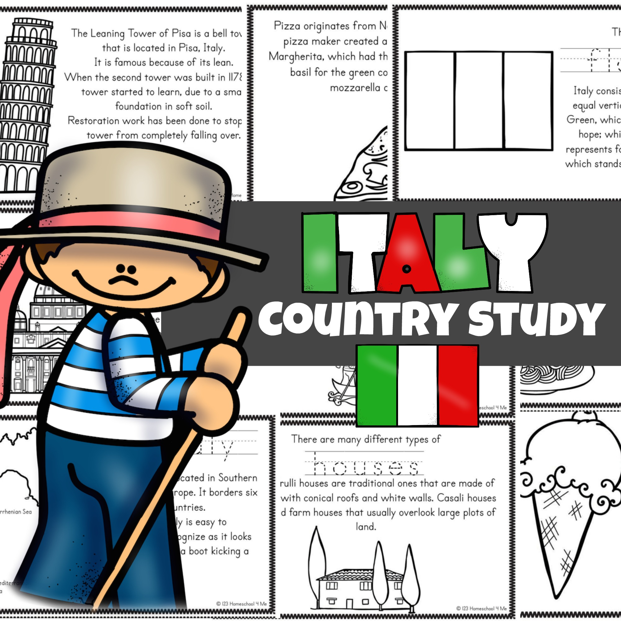 Free Free Italy Printables Read Color And Learn About