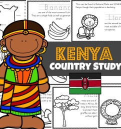 FREE Kenya For Kids Printable Book Mini Reader [ 1024 x 1024 Pixel ]
