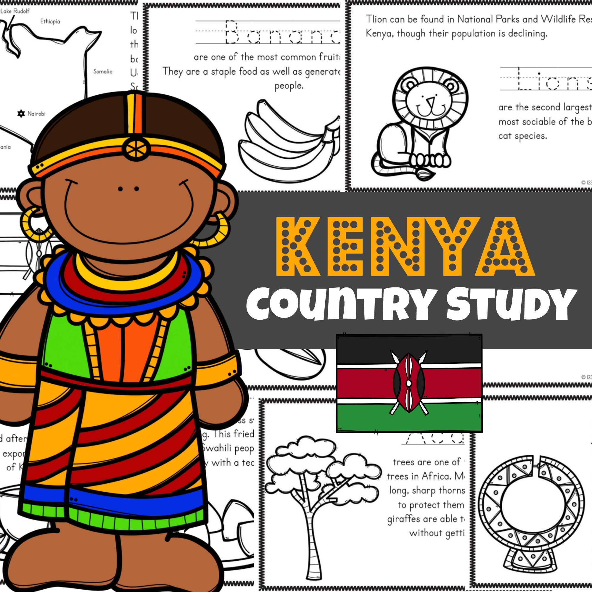 hight resolution of FREE Kenya For Kids Printable Book Mini Reader