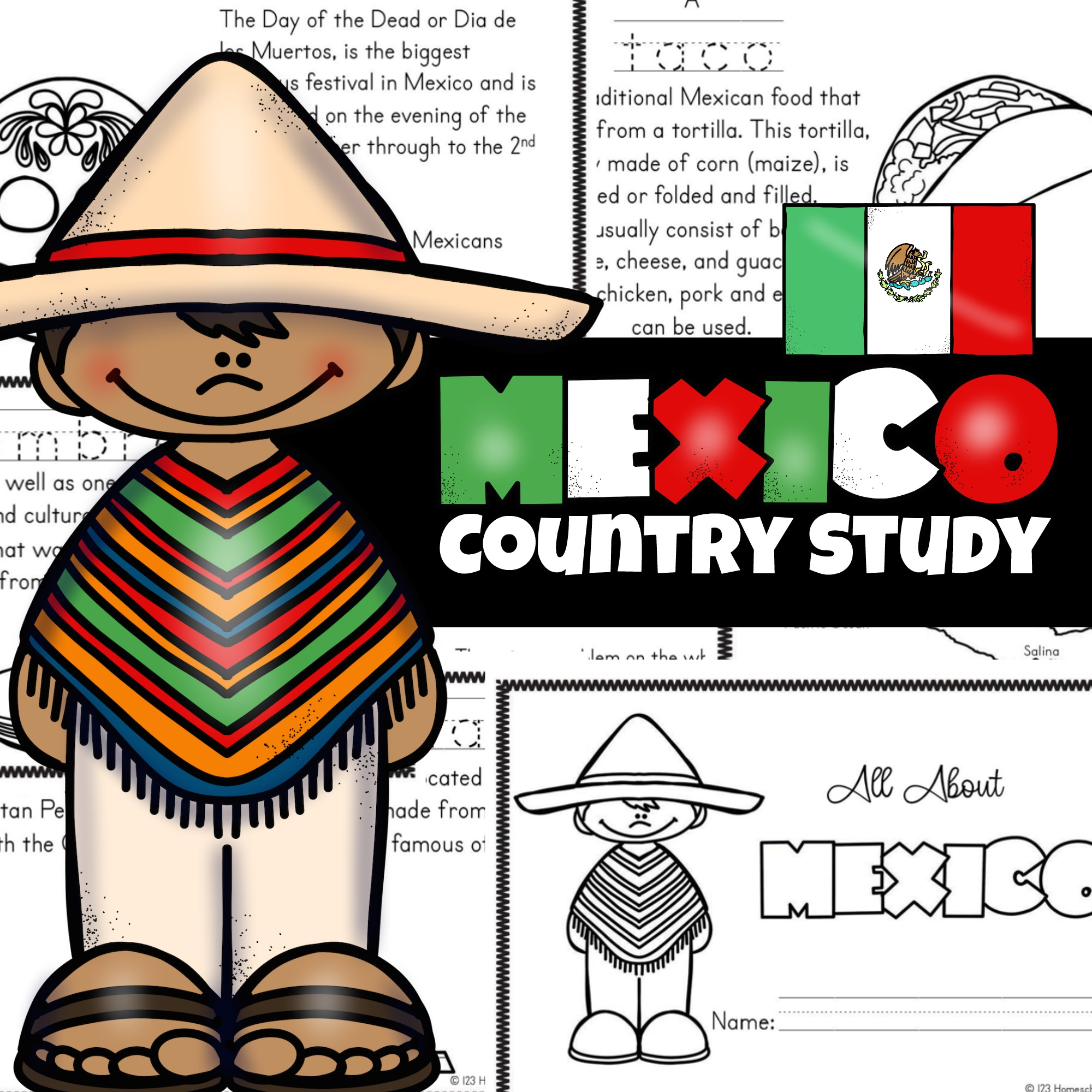 hight resolution of 🌮 FREE Printable Mexico for Kids Worksheets