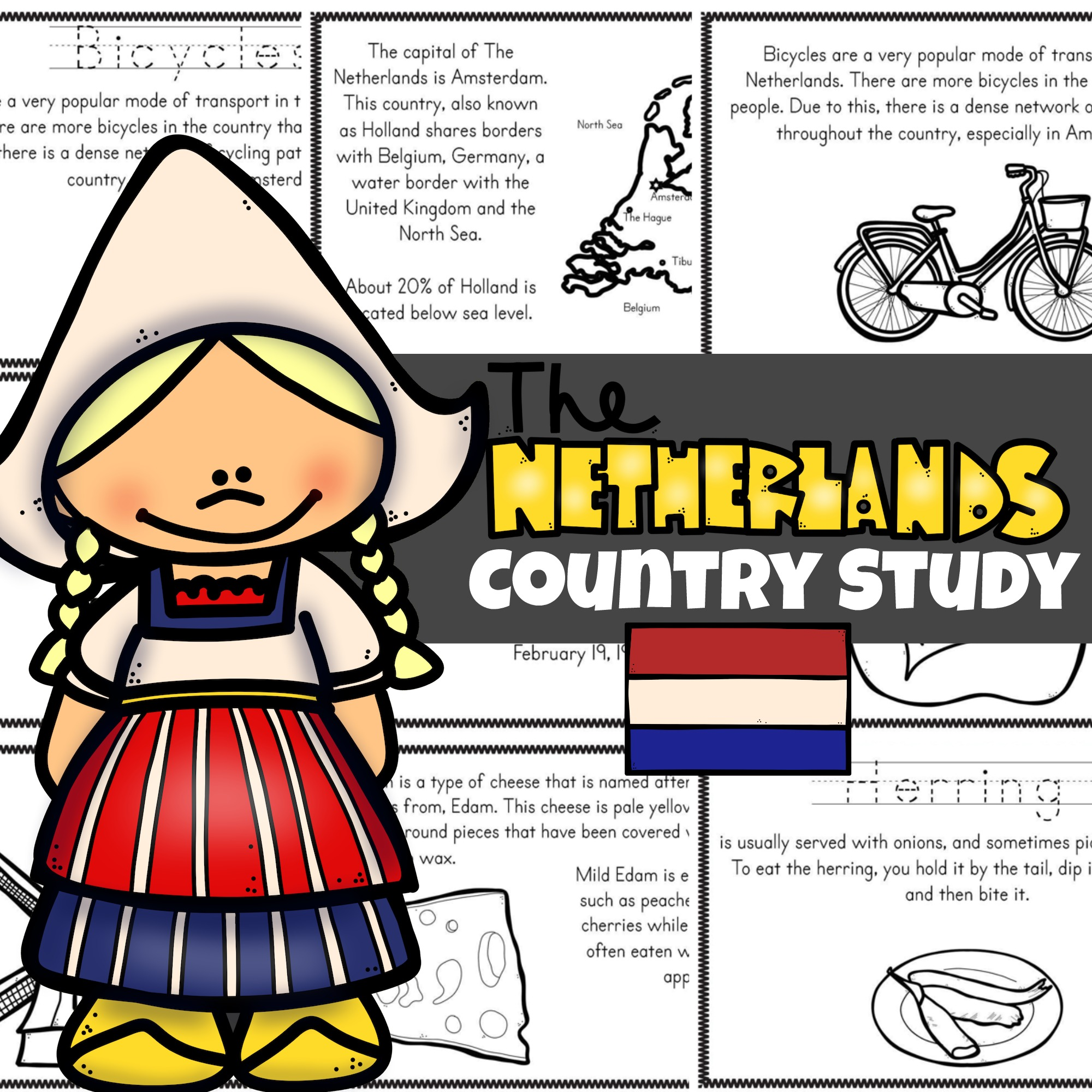 Free Netherlands For Kids Printable Book