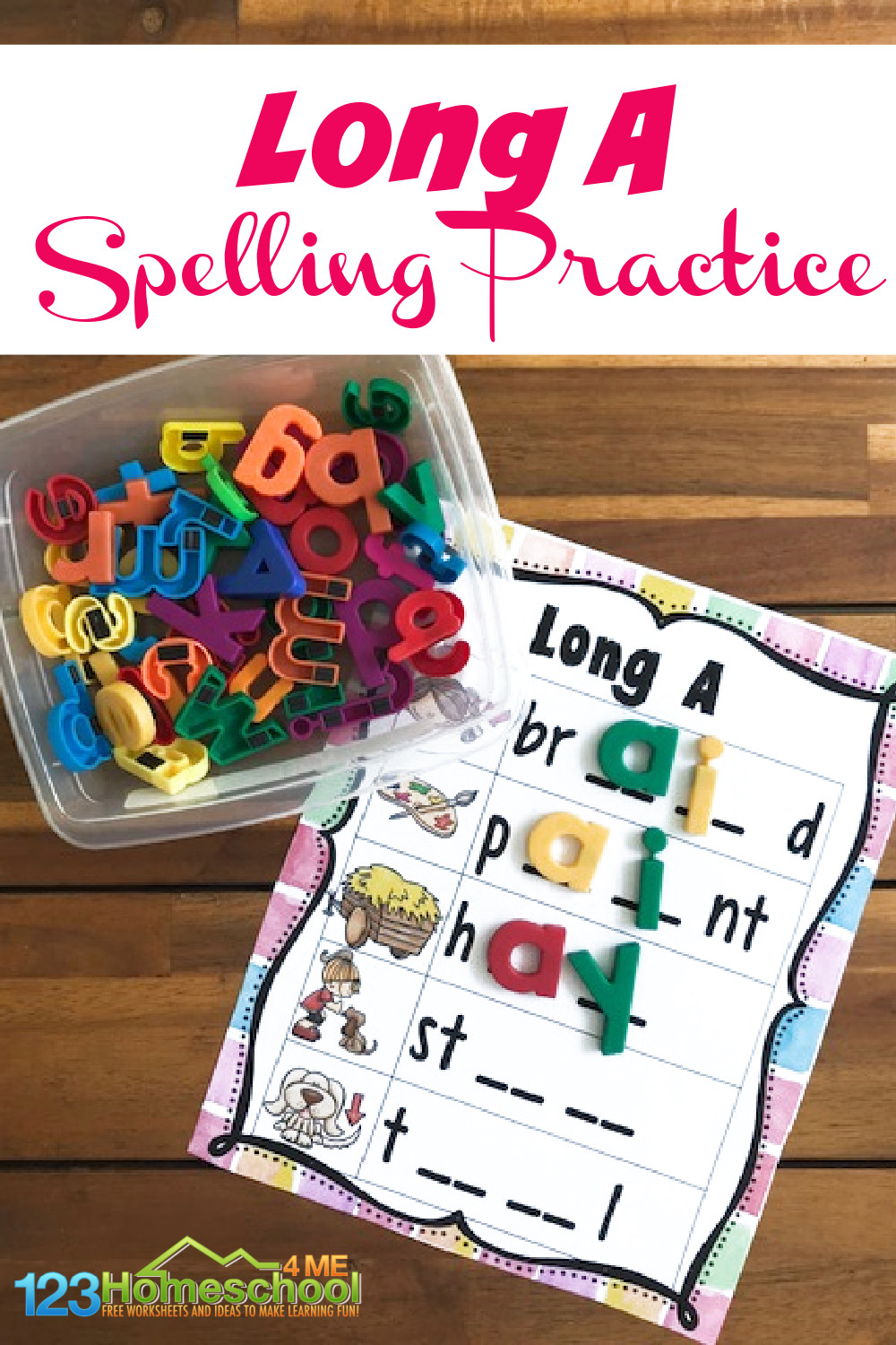medium resolution of Spelling Long A Words Practice
