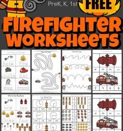 FREE Firefighter Worksheets [ 1865 x 1024 Pixel ]
