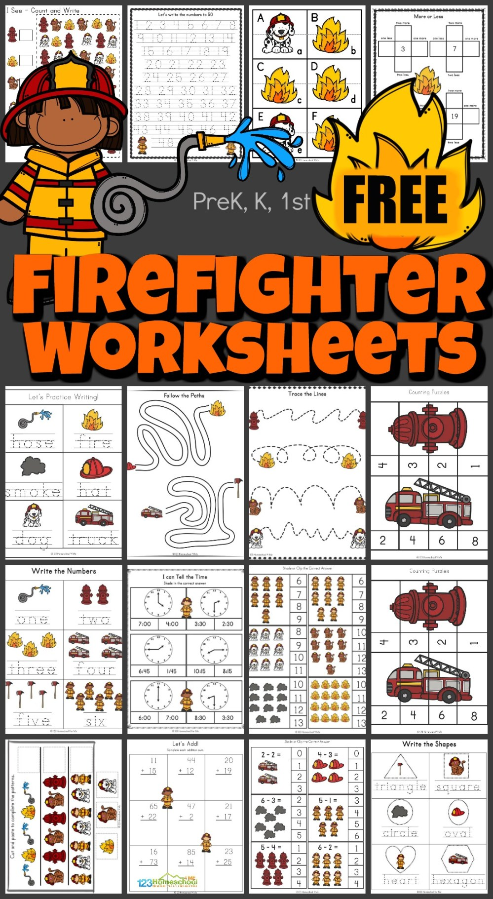 medium resolution of FREE Firefighter Worksheets