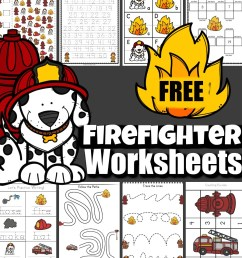 FREE Firefighter Worksheets [ 1031 x 1024 Pixel ]
