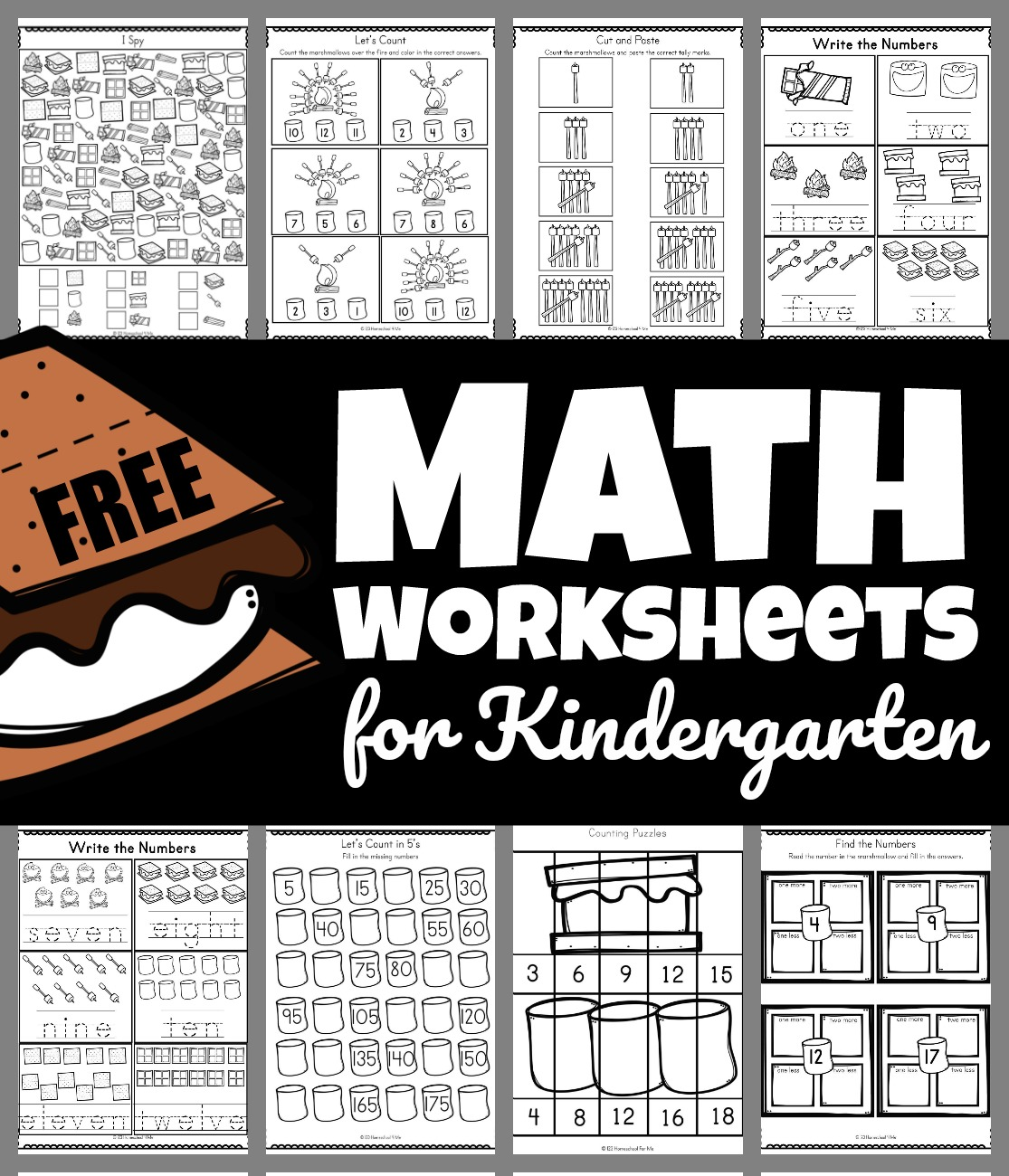 hight resolution of Smores Free Math Worksheets for Kindergarten