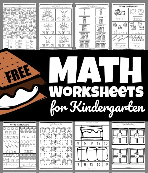 small resolution of Smores Free Math Worksheets for Kindergarten