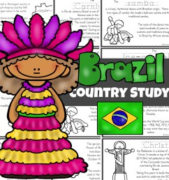 FREE Brazil For Kids Printable Book - Color [ 1024 x 1024 Pixel ]