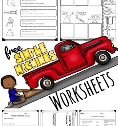 FREE Simple Machine Worksheets [ 1701 x 1024 Pixel ]