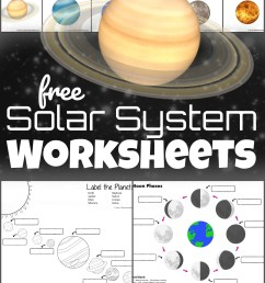 FREE Solar System Worksheets [ 1705 x 1024 Pixel ]