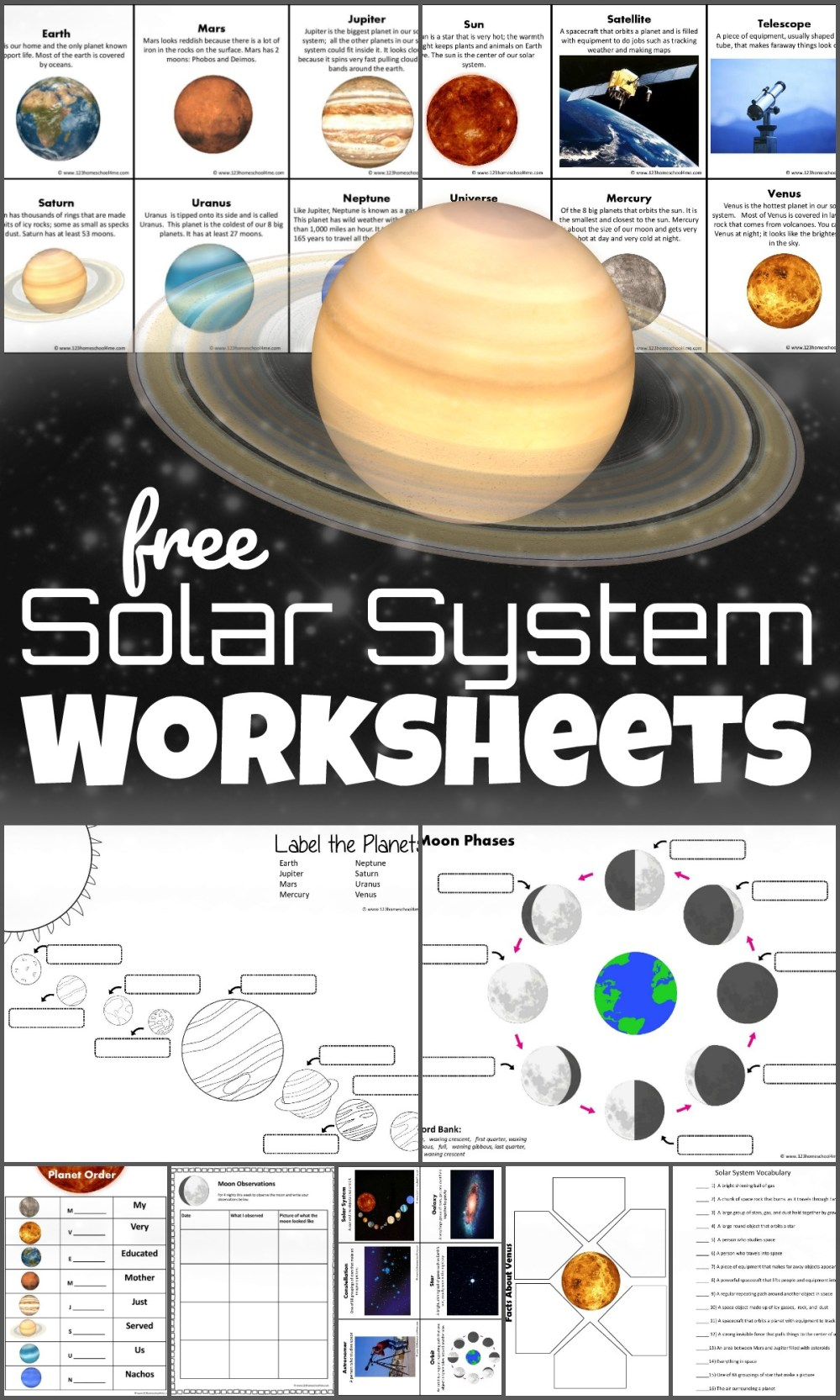 medium resolution of FREE Solar System Worksheets