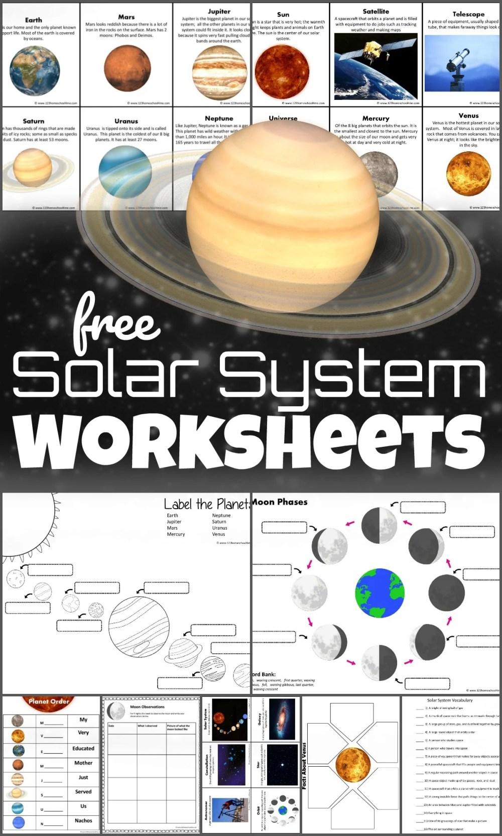 medium resolution of FREE Solar System Worksheets for Kids